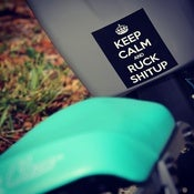 Image of Keep Calm And Ruck Shitup Sticker