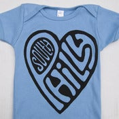 Image of  South Philly Love, Short Sleeve One-Piece (Blue)