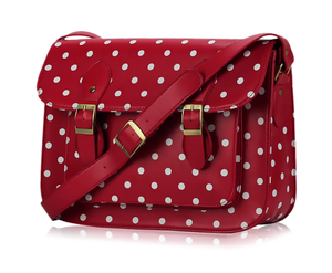 Image of Cherry Polka Dot Classic Satchel