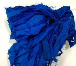 Image of Royal Blue Recycled Silk Ribbon