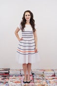 Image of Breton Stripe Tea Dress - Christina