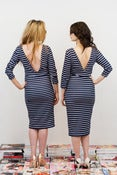 Image of Navy Stripe Wiggle Dress - Athena