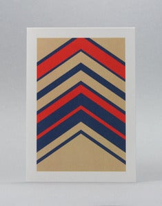 Image of Herringbone, Multi-Coloured Card