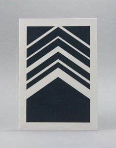 Image of Herringbone Navy Card