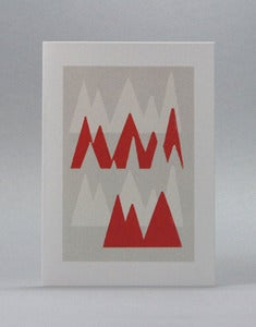 Image of Red Slalom Card