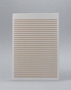 Image of Beige Stripetown Card
