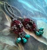 Image of Flower Child w/ Turquoise Earrings