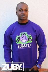 Image of Zubstep Crew Neck Sweatshirt - Purple