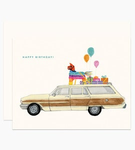 Image of Birthday Station Wagon Card