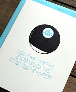 Image of Magic 8 Ball Birthday Card