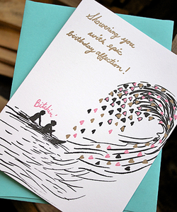 Image of Wave of Affection Birthday Card