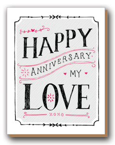 "Image of ""Happy Anniversary My Love"" Card"