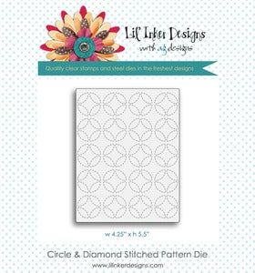 Image of Circles & Diamonds Stitched Pattern Die