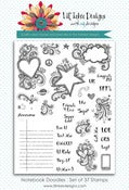 Image of Notebook Die & Notebook Doodle Stamp Set