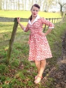 Image of 1940s inspired land girl dress