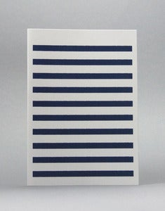 Image of Navy Stripetown Card
