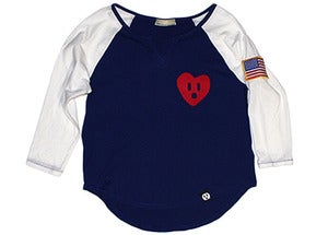 Image of CdNMC Socket Heart Raglan (USA) - Women