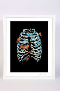 Image of FISH BONE - ART PRINT