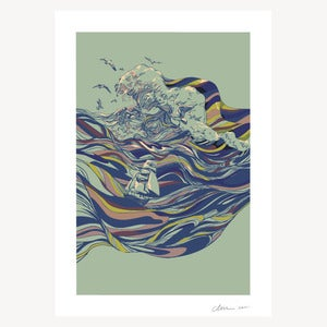 Image of OCEAN AND LOVE - ART PRINT