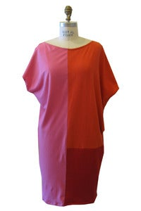 Image of Andy Panel Dress in Pink, Orange & Red