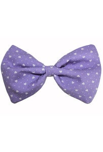 Image of Lilac Love Heart Bow Clip