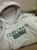 Image of Corporate Hippie Hoodie(white and green)