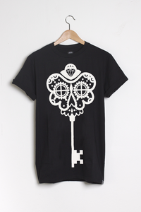 T-shirt design Skeleton Key - Black