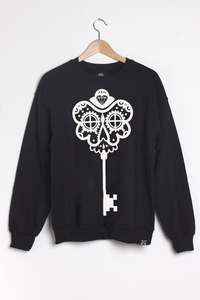 T-shirt design Skeleton Key Sweatshirt - Black