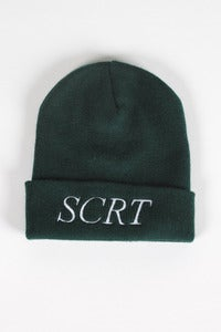T-shirt design SCRT Beanie - Forest Green