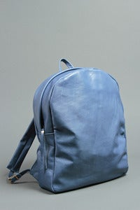 Image of Cowhide Backpack - Steel Blue