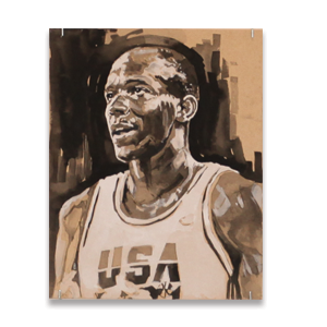 "Image of Dat Look: Clyde ""The Glide"" Drexler by Chelsey Boehnke"