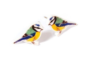 Image of Blue Tit Earrings
