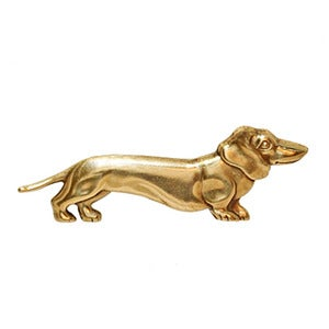 Image of Vintage Dachshund Dog Brooch