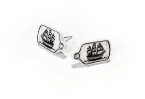 Image of Ship in a Bottle Earrings