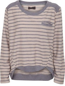 Image of Numph Zahra Sweat Blue Stripe Jumper
