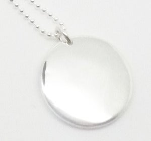 Image of Sterling Silver Disc Pendant 
