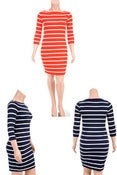 Image of Bodycon Striped Dress