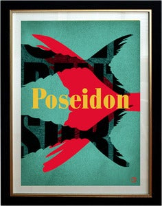 Image of Poseidon Art print framed