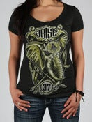 Image of ELEPHANT WOMENS- CHARCOAL HEATHER