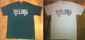 "Image of Limited Edition Black or White ""SkateBible"" t-shirts."