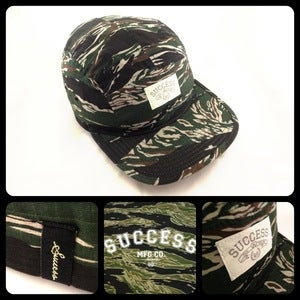 Image of Success 5-Panels hat (Tiger Camo)