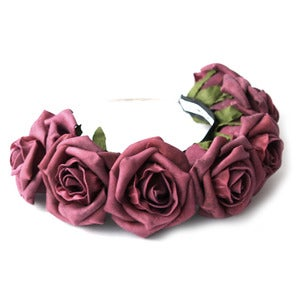 Image of Whole Lotta Rosie Headband - Burgundy