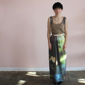 Image of Ermie paper towel print maxi skirt