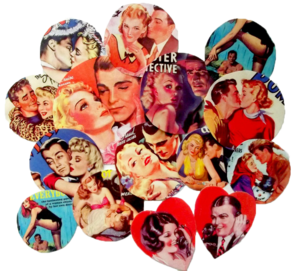 Image of Vintage Romance Sticker Set