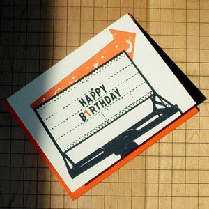 Image of Happy Birthday Sign and Arrow Card