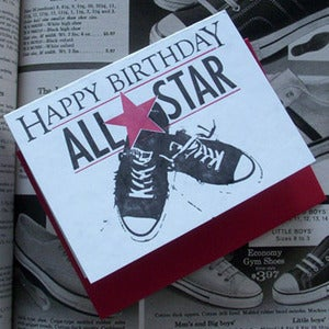 Image of Happy Birthday All Star Card