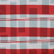 Image of tartan red rust workingcloth