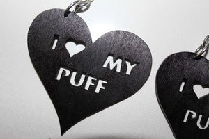 Image of I LOVE MY PUFF - Black