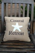 Image of Coastal Retreat Burlap Pillow