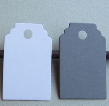 Image of Tags - Mini White and Grey